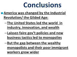 political paralysis in the gilded age ppt 49 conclusions america was changed by the industrial revolution