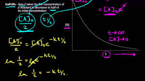 half life of a first order reaction knetics chemistry khan academy