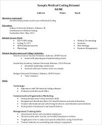 medical resume format sample 8 examples in word pdf sample medical coding resume