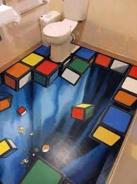 bathroom flooring wall painting pvc custom waterproof bath beach bathroom 3d floor painting