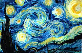 oil painting starry night van gogh free copy