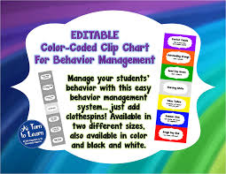 Classroom Management Chart Easy Classroom Management A Turn To Learn