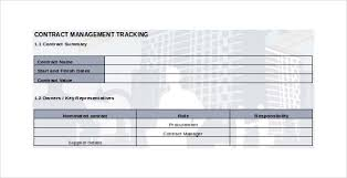 Contract Management Excel Template Contract Tracking Template 10 Free Word Excel Pdf Documents