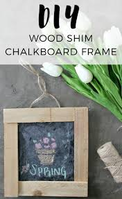 make swapping out seasonal décor a breeze with this simple diy chalkboard frame made from wood