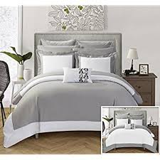 hotel collection comforter set. Amazon Com Chic Home 10 Piece Charlene MODERN TWO TONE REVERSIBLE With Regard To Hotel Collection Comforter Set Remodel 6 I
