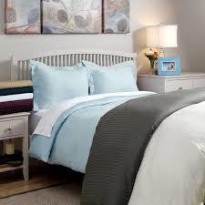 wrinkle resistant 300tc cotton reversible solid stripe 3 piece duvet cover set