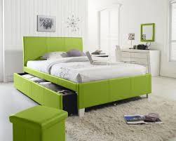 bedroom ideas for teenage girls green. Unique Teenage Charming Lime Green Upholstered Queen Bed With Cube Wall Mirror And  White Vanity Dresser As Decorate Women Bedroom Ideas On For Teenage Girls