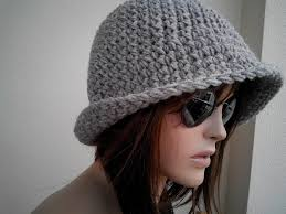 Womens fedora hat - chunky knit Slouchy GRAY Beanie Slouch Hat Fall Winter Accessories Autumn Fedora Chunky Knit