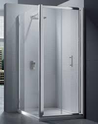 merlyn 6 series 4mm clear glass bi fold shower door 760 800mm m67211