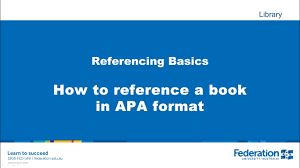 How To Reference A Book In Apa Format
