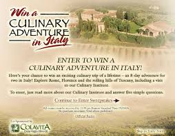 olive garden s sweepstakes to italy find out how to win a culinary adveture in italy at olivegardenitalysweeps comweb site screen grab of olive