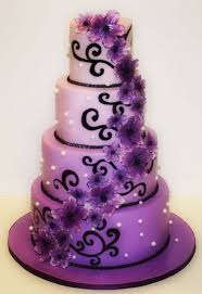 beautiful white and purple wedding cakes. Little Too Busy For My Taste But Like The Colors And Overall Concept Maybe Without Polka Dots Would Be Better With Beautiful White Purple Wedding Cakes