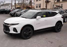 Chevy Blazer 2019 Rs White Suv Cars Dream Cars Chevy