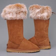 Ugg Fox Fur Short Damen Stiefel 5369 Chestnut Germany,ugg  hausschuhe,Neuheiten,Großer