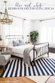 Blue and White Bedroom Ideas for Summer |