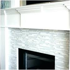 glass tile fireplace surround how to install pictures white
