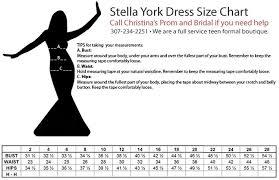 Stella York Size Chart Stella York Wedding Gowns Size Chart