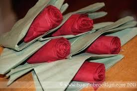 Paper Napkin Folding Flower Paper Napkins With Roses Napkin Folding Easy Rose Cypress