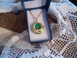 jade dragon pendant yellow gold plated with chain new image 1