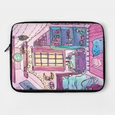 witchy bedroom witch laptop case