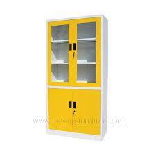 lovely yellow metal filing cabinet glass door office cabinet luoyang hefeng furniture