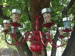 diy colorful outdoor lighted chandelier found brass chandelier regarding enjoyable diy outdoor chandelier your home concept