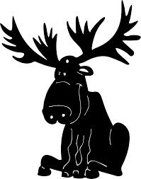 clipart  cartoon moose silhouette