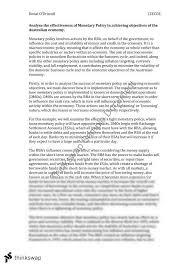 monetary policy essay year hsc economics thinkswap monetary policy essay