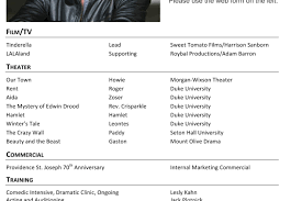 Audition Resume Template Theatrical Resume Sample Rtf Actors