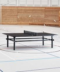 marshmallow ping pong table by studio vono is made of flattened metal pipes