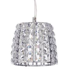 marquis by waterford moy led 1 light bathroom ceiling pendant chrome