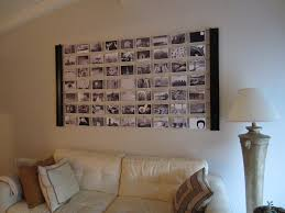decorations diy home design idea with wall photo in living room