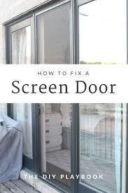 the easy way to repair a broken sliding screen door fix sliding screen door off track saudireiki
