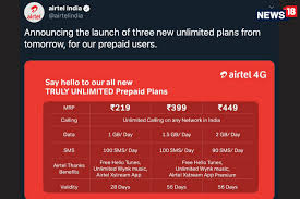 Airtel Has Three New Prepaid Recharge Packs With Unlimited