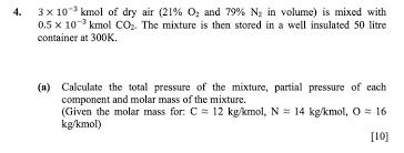 Molar Mass Of A Mixture Physics Forums