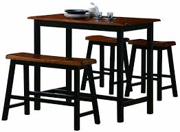 amazon crown mark tyler 4 piece counter height table set home kitchen