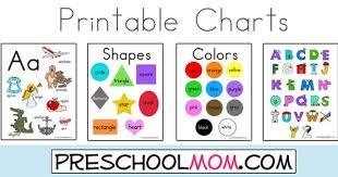 Abc And Number Chart Free Printable Classroom Charts From Preschoolmom Com Shapes