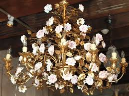 awesome full size of vintage tole chandelier gilt bronze with porcelain flowers astonishing lighting setup archived with vintage tole chandelier