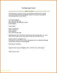 Formal Business Letter Block Format Blank Letter Template For First