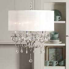 appealing white drum pendant lighting for modern living room decor by lighting with wood bookcase