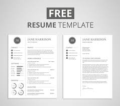 Cover Photo For Resume Free Resume Template and Cover Letter Graphicadi 53