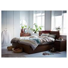 ikea malm bedroom furniture. ikea malm bed frame high w 4 storage boxes brown stained ash veneer ikea malm bedroom furniture