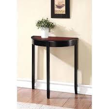 black hallway furniture. Small Cherry Wood Console Table With High Legs And Hallway Furniture Uk Delectable Painted Black Color In Narrow Hallw