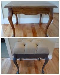 furniture repurpose. repurposed into tufted bench craftysisters upcycle furniture repurpose t