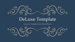 Microsoft Powerpoint Templates Deluxe Luxury Powerpoint Template