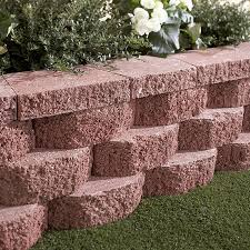 red basic retaining wall block common 12 in x 4 in actual 11 5 in x 4 in at com