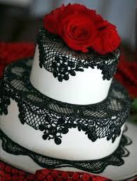Red Black White Wedding Cakes Google Search Red Black White Cake