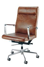 leather desk chairs. Brown Leather And Metal Office Chair On Wheels Desk Chairs F
