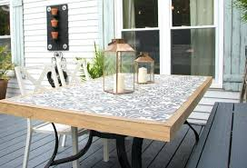 tile outdoor table. Tile Outdoor Table And The All Set Diy Mosaic G
