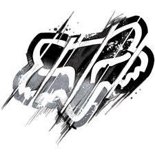 black honda racing logo. fox racing distorted dead sticker inc red black honda logo